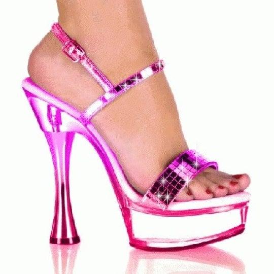Женские гламурные розовые туфельки на шпильке