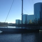 Photo taken at USA-71 BMW-Oracle Racing Boat by Mike B. on 7/27/2013