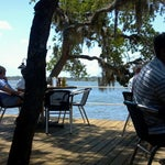 Photo taken at Cap's on the Water by Meisha on 4/28/2013