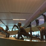 This place is a paragon of efficiency much to the contrast of the state of travel in India more broadly. Check out some of the sculpture work in the terminals like this sun salutation sequence.
