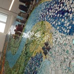You MUST see the spectacular mixed media mosaic of Edmonton's river valley after US Customs on the way to the US gates. MUST.
