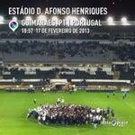 Photo taken at Estádio D. Afonso Henriques by Cesar A. on 2/17/2013