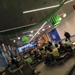 The Unites portion of the B terminal ( B20-30 ) is a very pleasant area to wait in. Plenty of lighting, charging, and space.