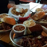 Photo taken at Edley's Bar-B-Que by Giovanna P. on 7/6/2013