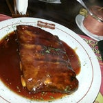 Photo taken at Santa Brasa Authentic Steaks by Nicolle P. on 7/21/2013