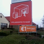 Photo taken at Shurgard Self-Storage Leuven by Davy V. on 3/8/2013
