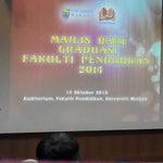 Photo taken at Auditorium Falkulti Pendidikan Universiti Malaya by Zaqwan Z. on 10/15/2014