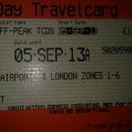 Day travelcard for Gatwick Airport + zones 1-6. It might be cheaper than a direct ticket to your destination, and you can use it the whole day on tube, train and buses! Buy one also for return!