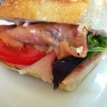 Photo taken at La Bonne Soupe Cafe by Allison on 5/5/2012