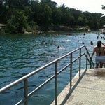 Photo taken at Barton Springs Pool by Haley Z. on 4/28/2012