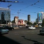 Photo taken at Slavija by Lazar S. on 7/18/2012