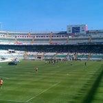 Photo taken at Estadio Manuel Martínez Valero by María G. on 5/13/2012