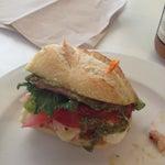 Photo taken at La Bonne Soupe Cafe by Javier G. on 5/7/2012