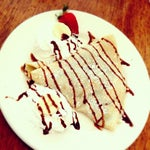 Photo taken at Pauley's Original Crepe Bar by Leslie B. on 5/13/2012