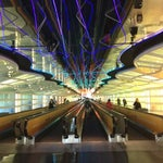 Check out the sick light show on the way to Concourse C!! :)