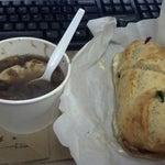 Photo taken at La Bonne Soupe Cafe by Brian M. on 7/19/2012