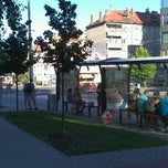 Photo taken at Skácelova (tram, bus) by Angel K. on 8/19/2012