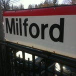 Photo taken at Metro North - Milford Train Station by Daniel P. on 4/3/2013