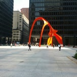 Photo taken at Alexander Calder's Flamingo Sculpture by @SDWIFEY on 7/10/2013
