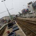 Photo taken at Tram 5 : Halte - Antwerp Stadion by Erik V. on 4/8/2015