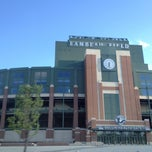 Photo taken at Lambeau Field by Austin W. on 5/11/2013