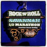 Photo taken at Rock n Roll Savannah Marathon Finish by Heather M. on 11/3/2012