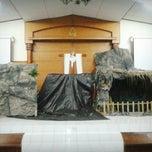 Photo taken at Gereja Kristen Jawa Depok by Yosua C. on 1/3/2014