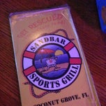 Photo taken at Sandbar Sports Grill by Daniella Veras @. on 6/26/2013
