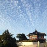 Photo taken at 북악스카이웨이 팔각정 (Bukak Skyway Palgakjeong) by Sangil K. on 10/8/2013