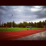 Photo taken at DEREE Soccer Field & Running Track by Bill A. on 9/16/2012