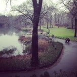 Photo taken at Central Park Duck Pond by Matthew K. on 1/12/2013