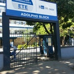 Photo taken at Escola Técnica Estadual Adolpho Bloch - ETEAB by Newton G. on 11/29/2012