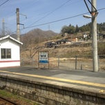 Photo taken at 備中川面駅 (Bitchū-Kawamo Sta.) by A K. on 3/17/2013