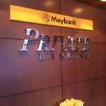 Photo taken at Maybank Private Banking by Rizzuwan idris on 12/10/2013