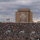 Photo taken at Notre Dame Stadium by Jeff S. on 9/21/2013
