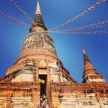 Photo taken at วัดใหญ่ชัยมงคล (Wat Yaichaimongkol) by n@mFhon ®™ on 3/23/2013