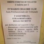 Photo taken at Ordine degli Avvocati di Velleri by SALA AVVOCATI FRASCATI on 3/19/2014