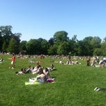Photo taken at Prospect Park (Long Meadow) by Grant H. on 5/27/2013