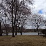 Photo taken at Washington Township Lake by Will T. on 4/5/2014