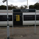 Photo taken at Horsham Railway Station (HRH) by Alejandro A. on 9/16/2012