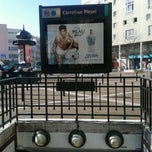 Photo taken at Métro Carrefour Pleyel [13] by Gustavo C. on 3/14/2013