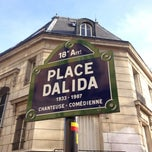 Photo taken at Place Dalida by Sebastien A. on 4/14/2013