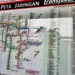 Photo taken at Halte TransJakarta Senayan JCC by Novia I. on 10/3/2013