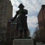 Photo taken at Robert Morris Statue by Fernanda P. on 4/8/2013