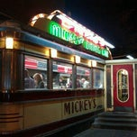 Photo taken at Mickey's Diner by Rachel E. on 10/9/2011