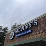 Photo taken at Manny's Mediterranean Cafe by Zack M. on 7/2/2013