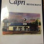 Photo taken at Capri Restaurant by Chris G. on 1/5/2013