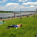 Photo taken at Rheinuferpromenade by Claudia H. on 5/28/2013
