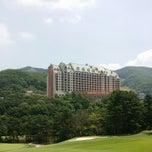 Photo taken at 양지파인cc by Gina Gee Hyun C. on 6/14/2014