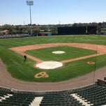 Photo taken at Ed Smith Stadium by Miss V. on 3/27/2013